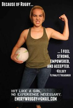 "Emory Women's Rugby Launches Empowering ""Because Of Rugby"" Campaign Rugby Memes, Rugby Quotes, Rugby Club, Rugby 7's, Rugby Girls, Women's Cycling Jersey, Cycling Jerseys, Team V, Womens Rugby"