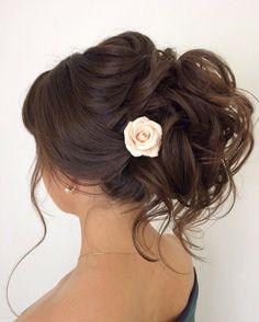 La rose dans les cheveux Elstile wedding hairstyles for long hair 45 - Deer Pearl Flowers / www.deerpearlflow...