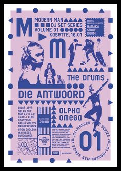 Poster for the Modern Man concert series of Kasette bar. © Studio Sarp Sozdinler