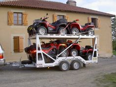 A trailer like Dad's Quad Trailer, Trailer Plans, Trailer Build, Utility Trailer, Utv Trailers, Equipment Trailers, Custom Trailers, Nitro Circus, Monster Energy
