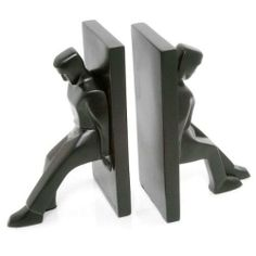 Kikkerland Leaning Men Bookends, Set of These guys do all the heavy lifting for those old-fashioned books! Diy Valentines Gifts For Him, Modern Bookends, Machine Age, Home Living, Living Room, Novelty Gifts, Decoration, Home Gifts, Decorative Accessories