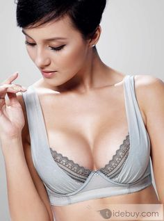9d899f85c89e8 Super Side Support Push Up Plunge Soft   Shimmer Chiffon Bra Breathable Thin