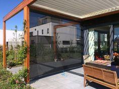 Luxxout windscherm terrasscherm privacyscherm oprolbaar.