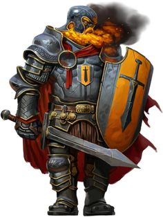 Fire Giant Captain by Eric Belisle Fantasy Races, Fantasy Armor, Medieval Fantasy, Character Portraits, Character Art, Illustration Fantasy, Fire Giants, Larp, Rpg Map
