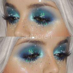 Mermaid makeup inspo via @juntaoren                                                                                                                                                                                 More