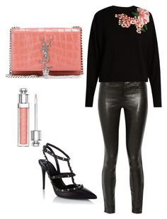 Casual winter date night outfit by alisha-hanif on Polyvore featuring polyvore, fashion, style, Dolce&Gabbana, J Brand, Valentino, Yves Saint Laurent, Christian Dior and clothing