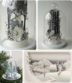 Dioramas... Great Winter decoration ideas.