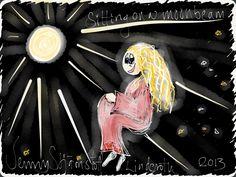 On a moonbeam! Made by Jenny Stjärnstoff Linderoth. stjarnstoff.wordpress.com