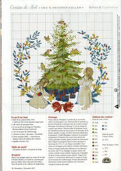 "Photo from album ""Creation Point de Croix on Yandex. Xmas Cross Stitch, Just Cross Stitch, Cross Stitch Charts, Cross Stitching, Cross Stitch Embroidery, Cross Stitch Patterns, Christmas Embroidery Patterns, Hand Embroidery Designs, Christmas Cross"