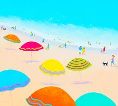 Bright Sunny Day!  #beachpaintings #beachprints #bathroomwallart #tropicaldecor #seascapepaintings #beachcanvasart #myrtlebeach