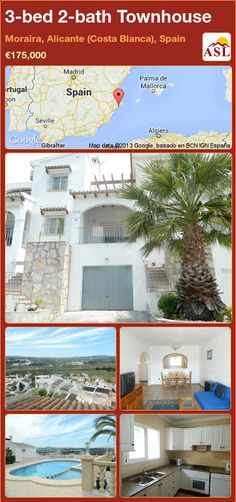3-bed 2-bath Townhouse in Moraira, Alicante (Costa Blanca), Spain ►€175,000 #PropertyForSaleInSpain