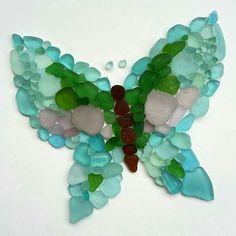 Sea glass butterfly.