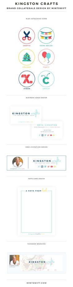 Brand Design for Kingston Crafts - MintSwift | Brand Collaterals Design | Brand Design | Brand Elements | Collateral Design | Logo Design | Brand Identity | Favicon Design | Alternative Logo Design | Submark Design | Social Media Design | Note Card Design | Email Signature Design | Brand Board | Brand Style Guide | Colour Palette | Facebook Branding | Blog post categories design | Business Cards Design | Brand Design Package | MintSwift Design | MintSwift Portfolio | MintSwift...