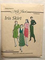 La Fred Bloebaum Sewing Pattern Iris Skirt Sizes 6 - 26 Included Uncut