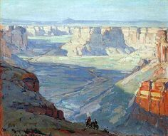 Edgar Payne (1883 - 1947)- Cole Canyon (Arizona)  Oil on canves.20 x 24 inches