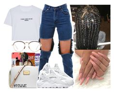 """""""She a bad thing.. Fine as hell ."""" by gmboogie ❤ liked on Polyvore featuring WithChic, NIKE and Linda Farrow"""