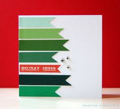 Holiday Cheer Card: Christmas paper crafts