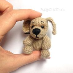 Crochet toy dog for dolls Toys for BJD dolls Yosd Tiny