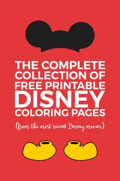 free Disney coloring pages | free printables for kids