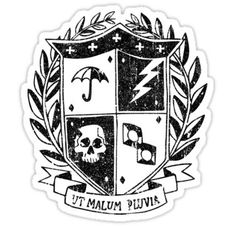 The Umbrella Academy stickers featuring millions of original designs created by independent artists. Decorate your laptops, water bottles, notebooks and windows. White or transparent. 4 sizes available. Academy Uniforms, Academy Logo, Crest Logo, Tumblr Stickers, Printable Stickers, Coat Of Arms, Sticker Design, Patches, Costumes