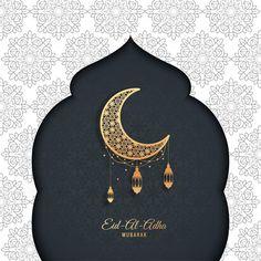 Eid-Al-Adha Mubarak.Vector greeting card Eid Mubarak Card, Adha Mubarak, Eid Al Adha, Eid Ul Adha Images, Mubarak Images, Love Images, Art Images, Eid Crafts, Happy Eid