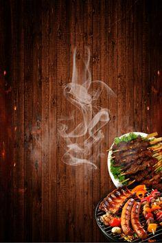 Cartaz De Comida E Bebida De Churrasco in 2020 Food poster design Food menu design Barbecue restaurant