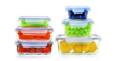 Popit! Glass 6+6 set (12 piece airtight borosilicate glass set, Oven and Microwave safe without lids)