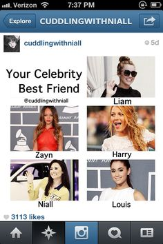 Your celebrity best friend...idk if i would want Demi as a best friend because she might hit on Niall behind on my back...