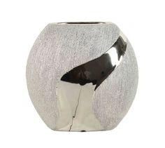 Wazon ceramiczny srebrny AZ-CE-694