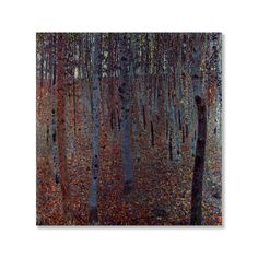 Classics 'Beech Forest' by Gustav Klimt Painting Print