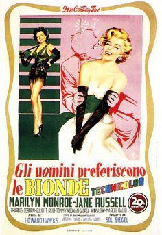 Gentlemen Prefer Blondes | Italian Movie Poster, 1953
