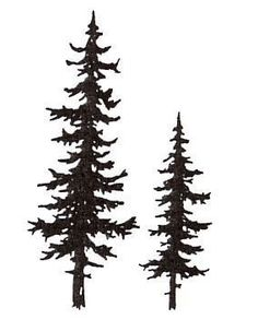 Sarasota Stamps Mounted Rubber Pine Trees Stamp (Set of - Modern Pine Tattoo, Pine Tree Tattoo, Kiefer Silhouette, Pine Tree Art, Pine Tree Silhouette, Tree Outline, Trendy Tree, Tree Designs, Cool Tattoos