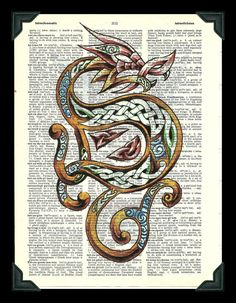 Buy Any 2 Prints get 1 Free Celtic Dragon by thedigitalarttree, $5.00