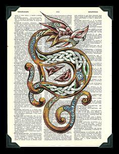 Buy Any 2 Prints get 1 Free Celtic Dragon by thedigitalarttree, $5.00