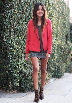Skirt: Mango | Sweatshirt: 3.1 Phillip Lim | Booties: Stuart Weitzman |