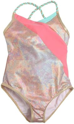 fdf965782f0e9 Iridescent Lycra One Piece Swimsuit Baby Swimsuit, One Piece Swimsuit,  Little Marc Jacobs,