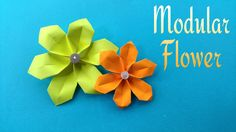 """How to make a easy paper """"Modular Flower"""" for Mother's Day - Origami Tutorial"""