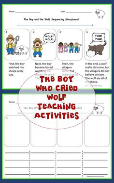 Use The Boy Who Cried Wolf Aesop's Fable Teaching Activities to engage your students as they increase their reading comprehension.  The differentiated sequencing activities will engage your students as they learn how to retell stories.  The easy read fable will allow your students to read independently.  Use for literature circles, teaching lessons, or independent reading activities. #fable #aesopsfables #theboywhocriedwold #readingcomprehension Reading Comprehension Activities, Sequencing Activities, Teaching Activities, Teaching Reading, Teaching Kids, Classroom Activities, Learning, English Language Learners, Language Arts