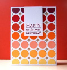 Autumn Gradient Card by Cristina Kowalczyk for Papertrey Ink (November 2012)
