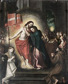 Jesus reunites with His Mother after the Resurrection