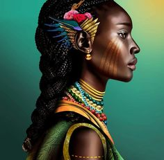 girl Nubian people black