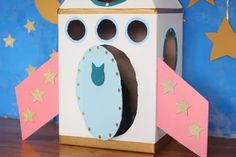 How To Make A Cardboard Rocket Ship For Your Cat Using Old Boxes | Cuteness Cardboard Rocket, Cardboard Crafts, Paper Crafts, Cardboard Boxes, Fancy Cats, Cute Cats, Space Activities, Activities For Kids, Buzz Lightyear Wings