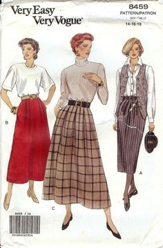UNCUT Very Easy Very Vogue Pattern 8459  by AllThingsVogue on Etsy