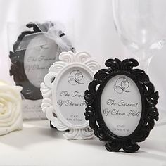 Classic Theme Place Card Holder/Photo Frame (More Colors)
