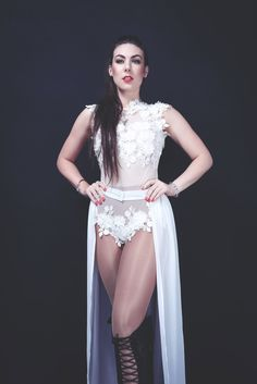 """Elize Ryd (lead singer for """"Amaranthe"""") Steam Punk, Power Metal Bands, Heavy Metal Girl, Ladies Of Metal, Alissa White, Leder Outfits, Women Of Rock, Symphonic Metal, Goth Beauty"""