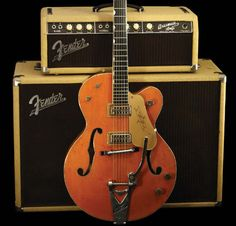 In 1954, the Fred Gretsch Company introduced its own artist-endorsed guitar in response to the success of Gibson's Les Paul model. The virtuoso country artist Chet Atkins was chosen, and with his input, the model 6120 Chet Atkins Hollowbody was born. www.vintageandrare.com