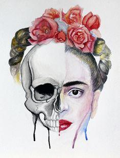 Una ilustración para los que aman la parte más oscura de ella. | 18 Piezas que todo amante de Frida Kahlo querrá tener ahora mismo