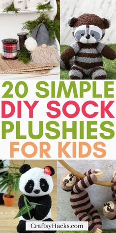 20 Easy DIY Sock Plushies