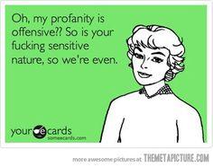 I do love me some cuss words!