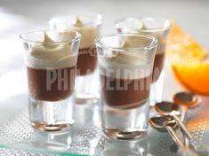 Čokoládový krém s čepicí z pomerančů - Dezerty - recepty - Sýr Philadelphia Orange Cups, Chocolate Orange, Dessert Recipes, Desserts, Panna Cotta, Nom Nom, Sweet Treats, Food And Drink, Pudding